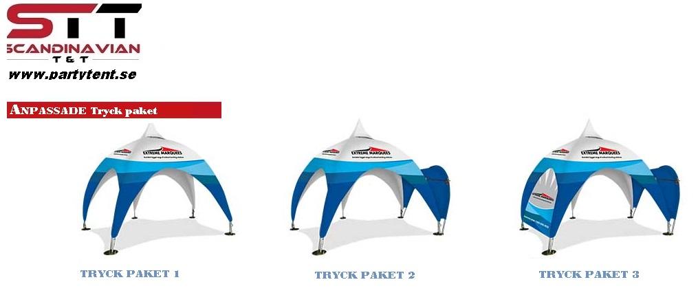 Popup tält 3x6 m Komplett Tält paket Grönt Tak EN